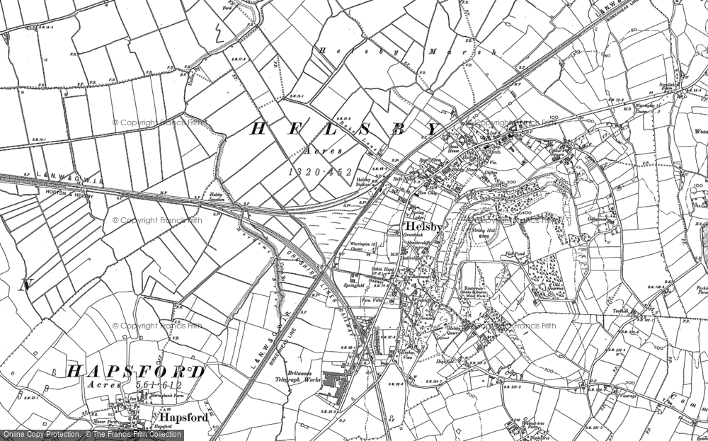 Map of Helsby, 1897