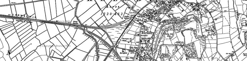 Old map of Helsby in 1897