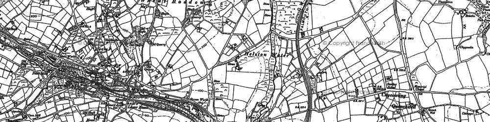 Old map of Helston Water in 1879
