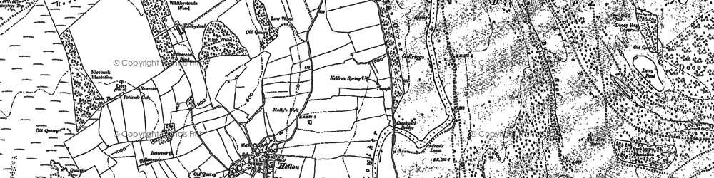 Old map of Widewath in 1897