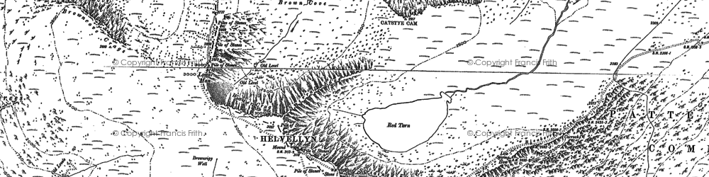 Old map of Whelp Side in 1897