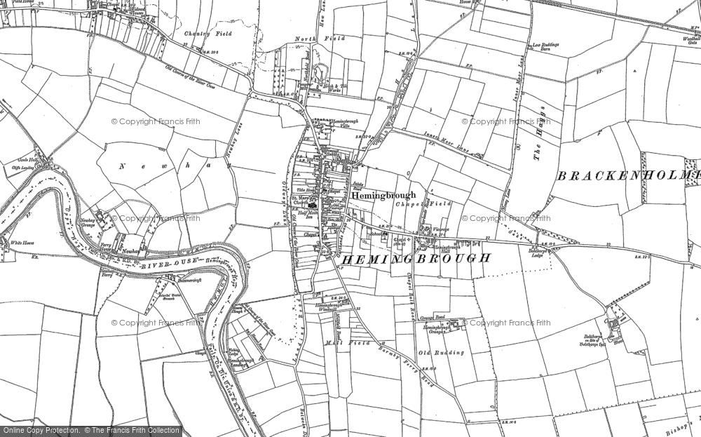 Old Map of Hemingbrough, 1889 - 1890 in 1889