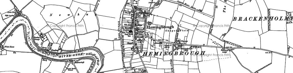Old map of Hemingbrough in 1889