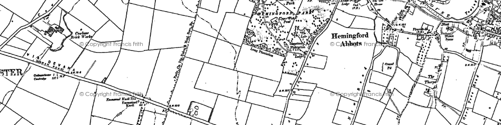 Old map of Wood Green Animal Shelter in 1885