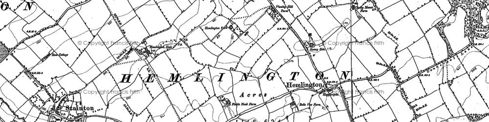 Old map of Hemlington in 1892