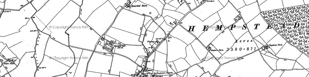 Old map of Wincelow Hall in 1896