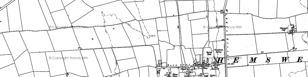 Old map of Hemswell in 1885