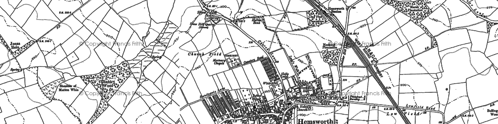 Old map of Hemsworth in 1891