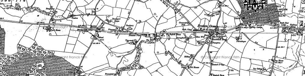 Old map of Whirley Grove in 1897