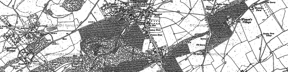Old map of Henbury in 1901