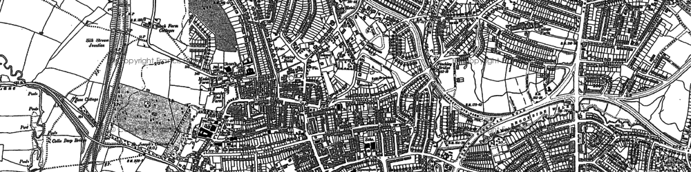 Old map of Hendon in 1894