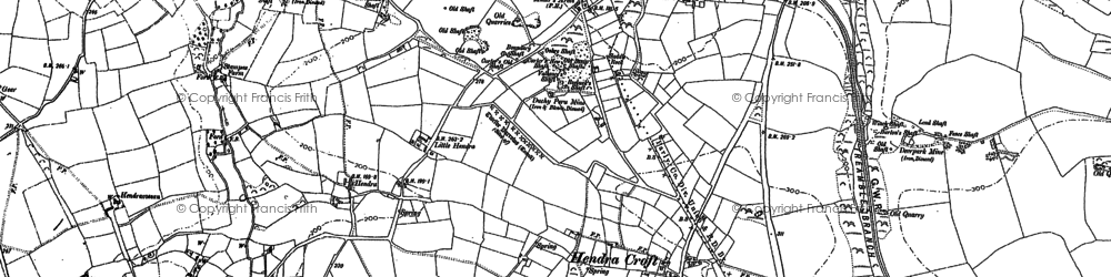 Old map of Hendra Croft in 1906