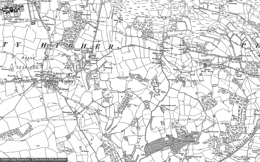 Old Map of Hendre, 1897 - 1914 in 1897