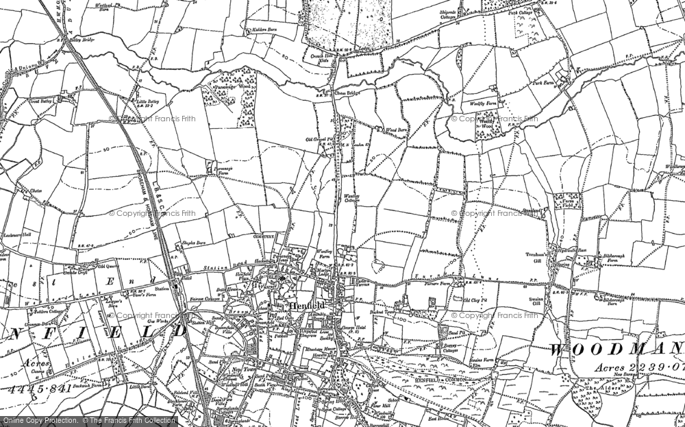 Old Map of Historic Map covering Woodhouse in 1896