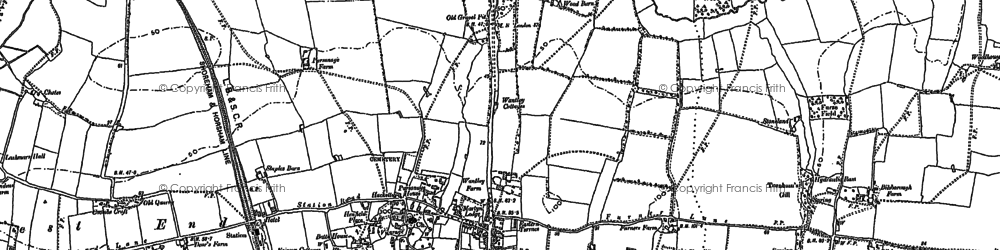 Old map of Woodhouse in 1896