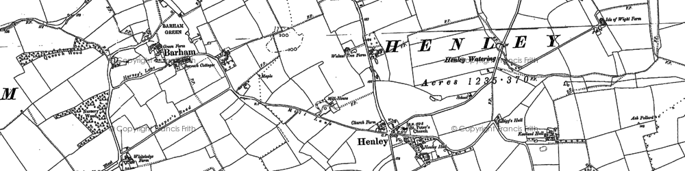 Old map of Witnesham Thicks in 1883