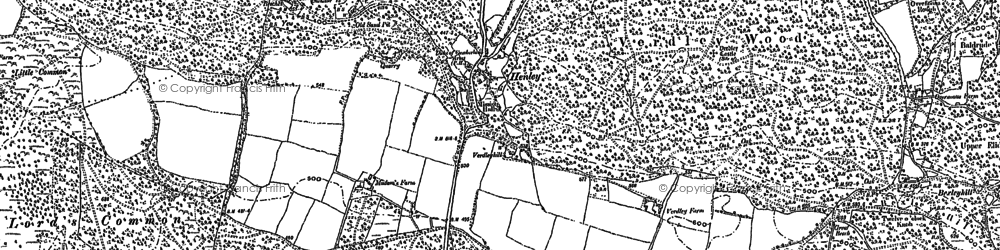 Old map of Henley in 1895