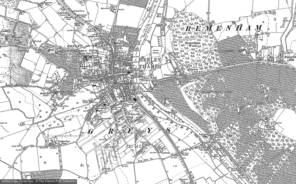 Henley On Thames Map Old Maps of Henley on Thames   Francis Frith Henley On Thames Map