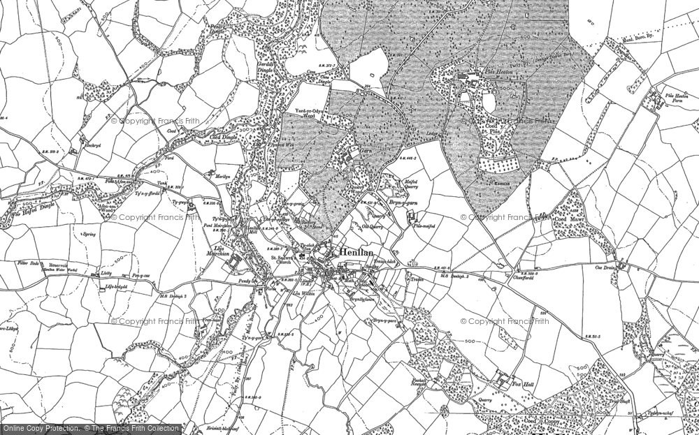 Old Map of Historic Map covering Afon y Meirchion in 1898