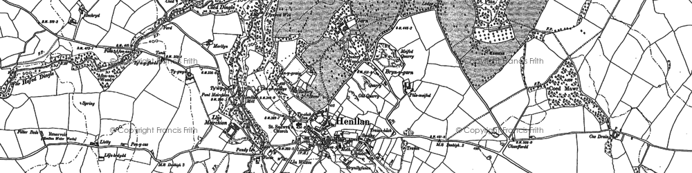 Old map of Y Gorlan in 1898