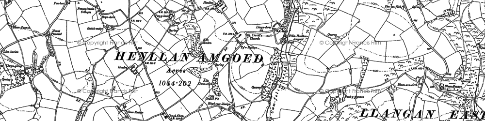 Old map of Crosshands in 1905