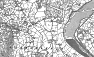 Old Map of Henryd, 1887 - 1899