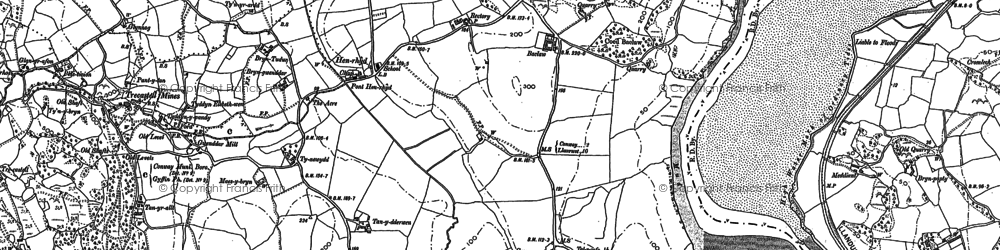 Old map of Afon Conwy in 1887
