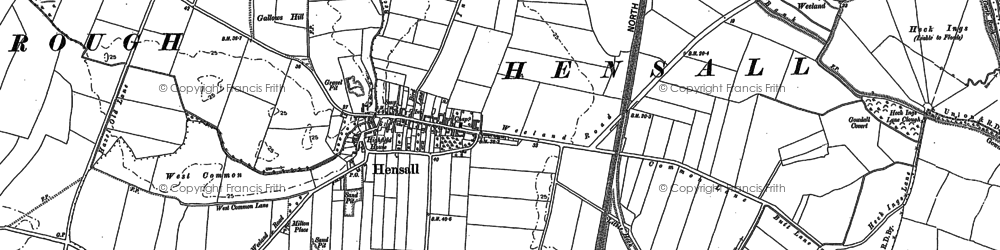 Old map of Hensall in 1888