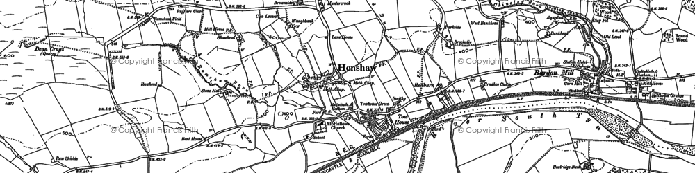 Old map of Layside in 1895