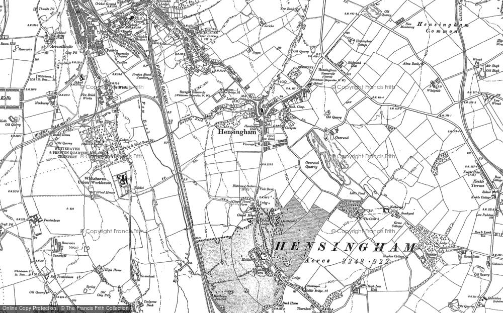 Old Map of Hensingham, 1923 in 1923