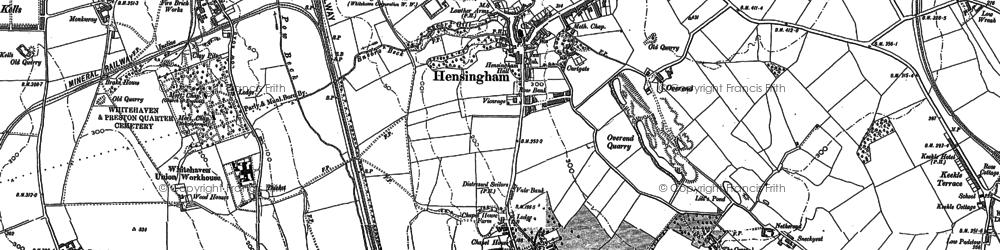 Old map of Hensingham in 1923
