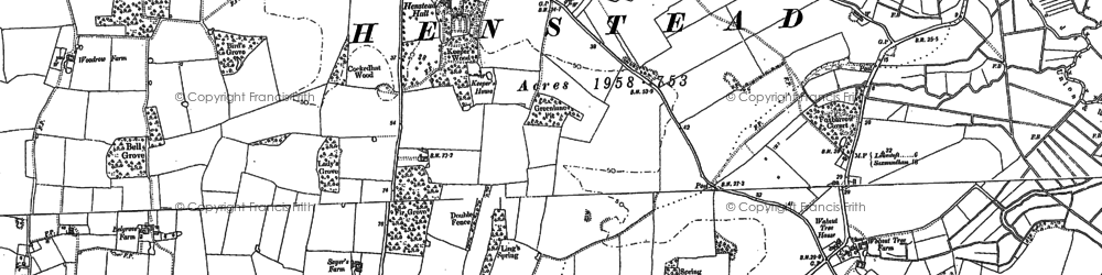Old map of Wrentham West End in 1903