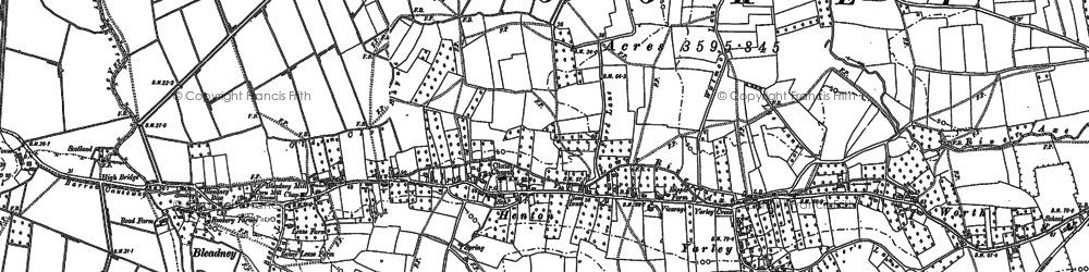 Old map of Westbury Moor in 1884