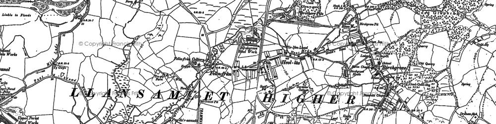 Old map of Heol Las in 1897
