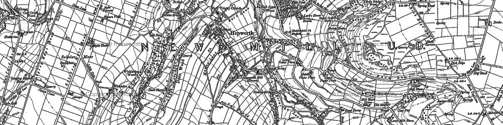 Old map of Law in 1888
