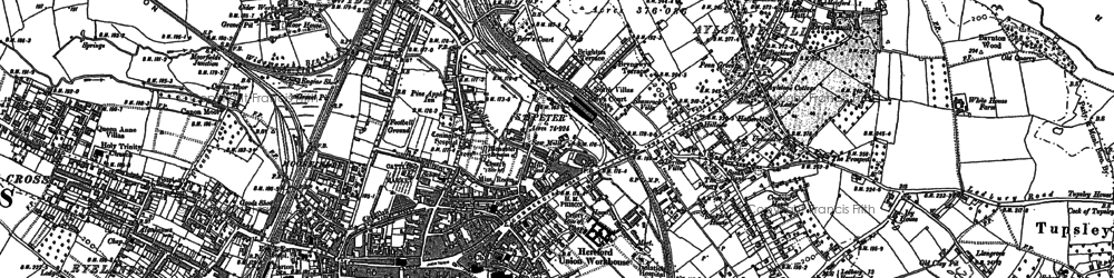 Old map of Hereford in 1885