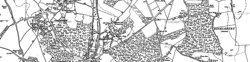 Old map of Hermitage in 1898