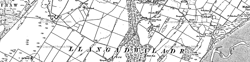 Old map of Hermon in 1899