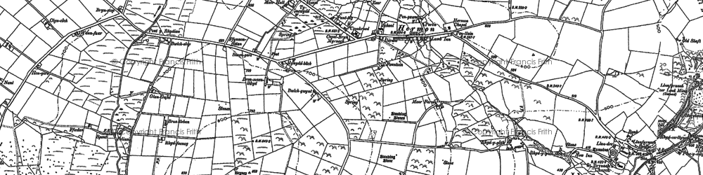 Old map of Afon Gafel in 1905