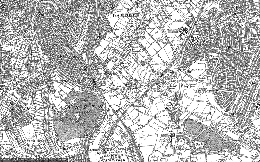 Old Maps of Herne Hill Francis Frith