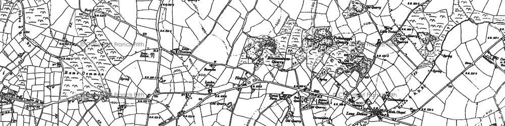 Old map of Herniss in 1878