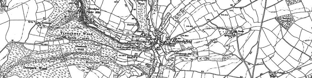 Old map of Herodsfoot in 1881