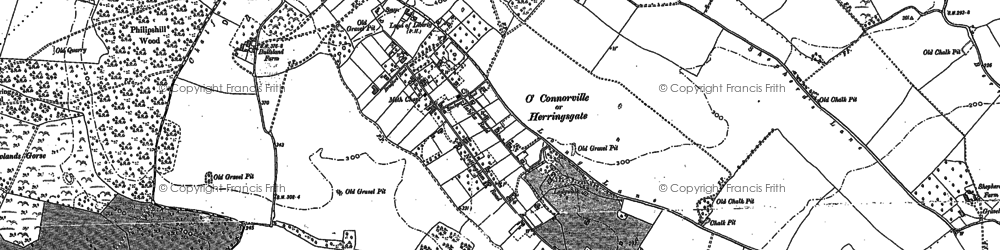 Old map of Chorleywood Bottom in 1895