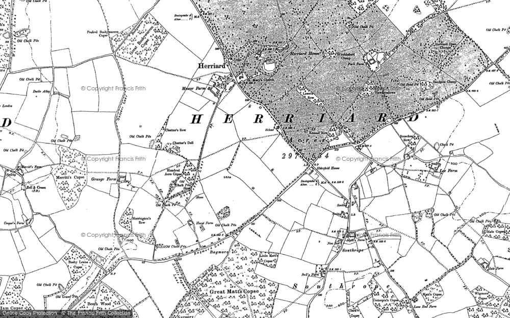 Old Map of Herriard, 1894 in 1894