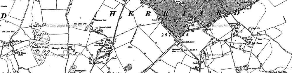 Old map of Herriard in 1894