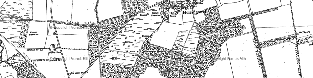 Old map of Woodlands in 1881