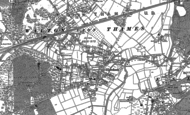 Old Map of Hersham, 1895