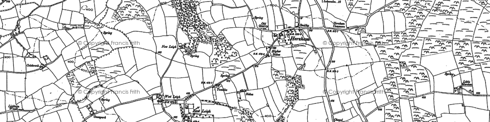 Old map of Hersham in 1905
