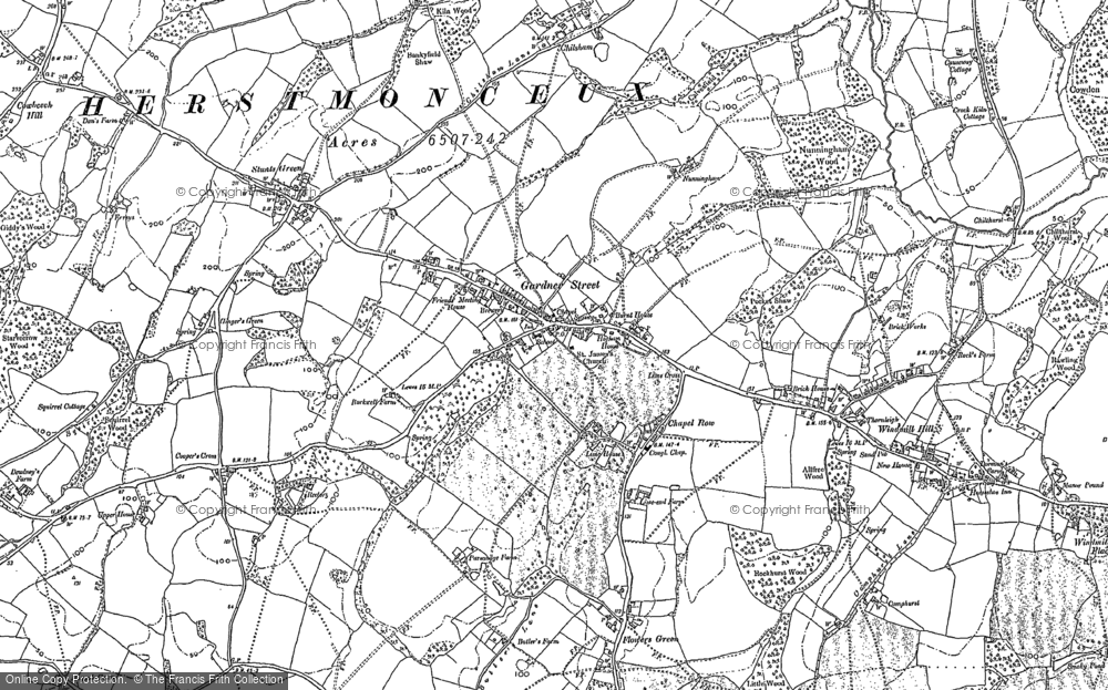 Old Map of Herstmonceux, 1897 - 1898 in 1897