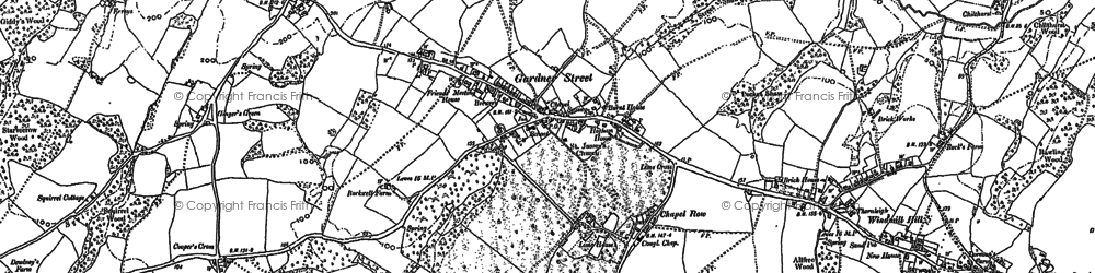 Old map of Herstmonceux in 1897